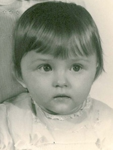 The earliest picture I have of me thinking really hard about something - probably keeping 2 storybooks straight...