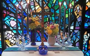A small round table served as our altar in the chapel.