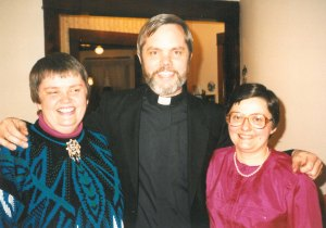 With our pastor Steve at our Blessing Ceremony, January 24, 1989.