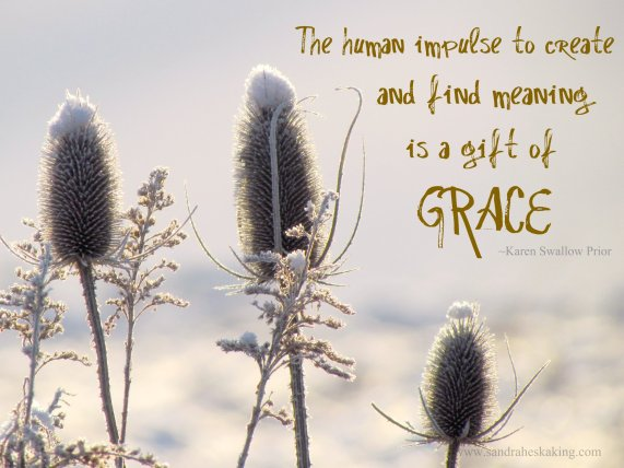 Grace quote with winter scene