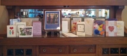 Wedding Cards on Buffet