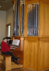 Marian at Messiah organ 2