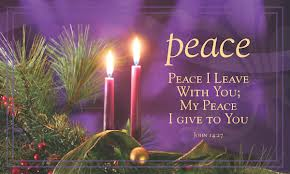 Advent Candles - 2 lit - PEACE
