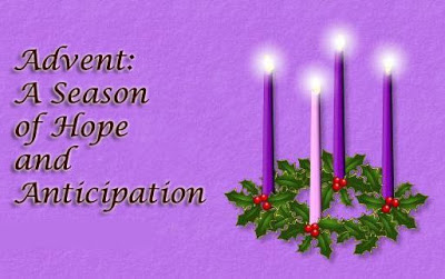 Advent Wreath w HOPE text
