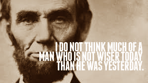 Abraham Lincoln - wiser - brown