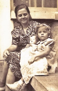 Mom and Nancy, many years before I was born.