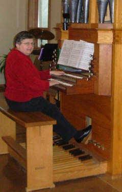 Marian at Messiah organ 5