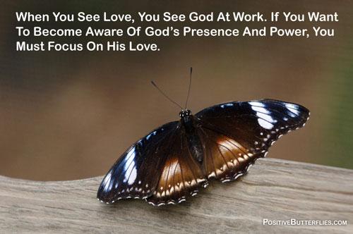 Gods presence butterfly