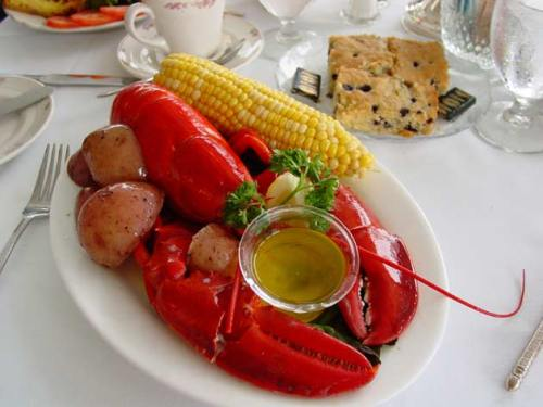 lobster on plate