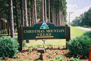 Christmas Mountain Village Sign