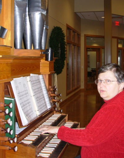 Marian at Messiah organ 3