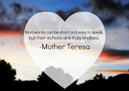 Kindness - Mother Teresa quote 2