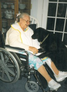 Maia and Selma in wheelchair