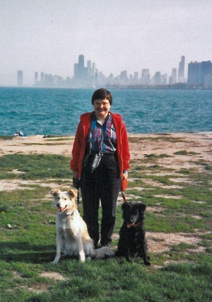Megabyte and Maia with Marian in Chicago