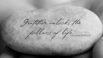 Gratitude Stune - fullness of life