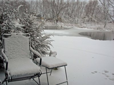 Snowy Patio Chair