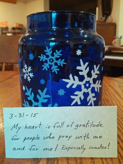 Gratitude Jar w note 4