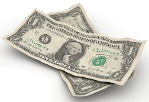 2 one-dollar bills 2 cropped