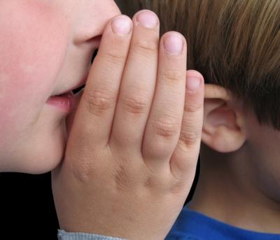 whispering closeup