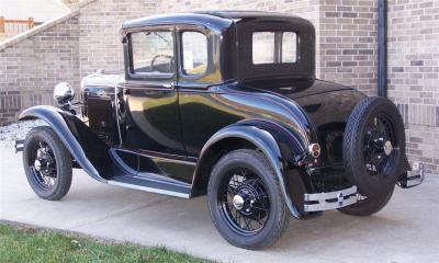 1930 Ford Model A Coupe - I think this is the kind of car Mom drove for this grand adventure.