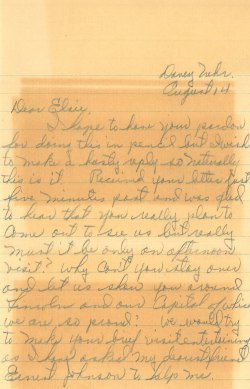 Second letter to Elsie from Art. The first one was typed.