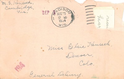 Envelope to Elsie - General Delivery