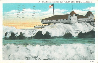 Post Card of Long Beach 1934