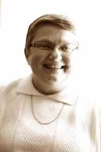 Marian Smiling BW adj
