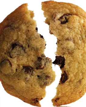 chocolate chip cookie - split