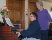 Maxine-Marian at piano